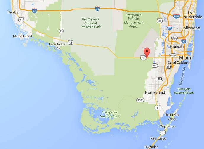 Carte Everglades Floride