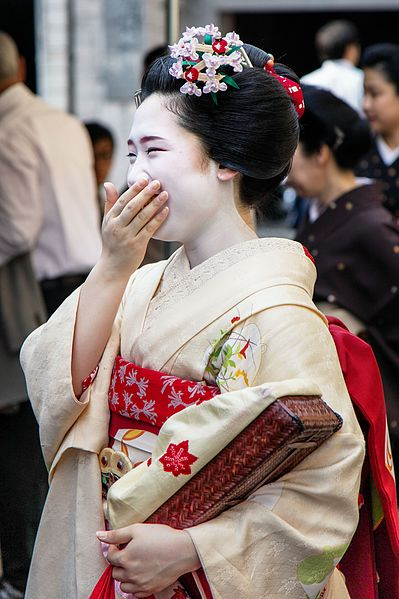 Japonaise riant