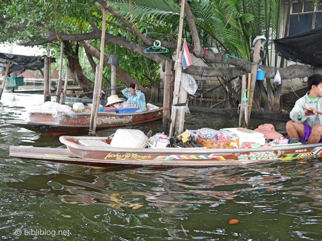 Bangkok marché flottant