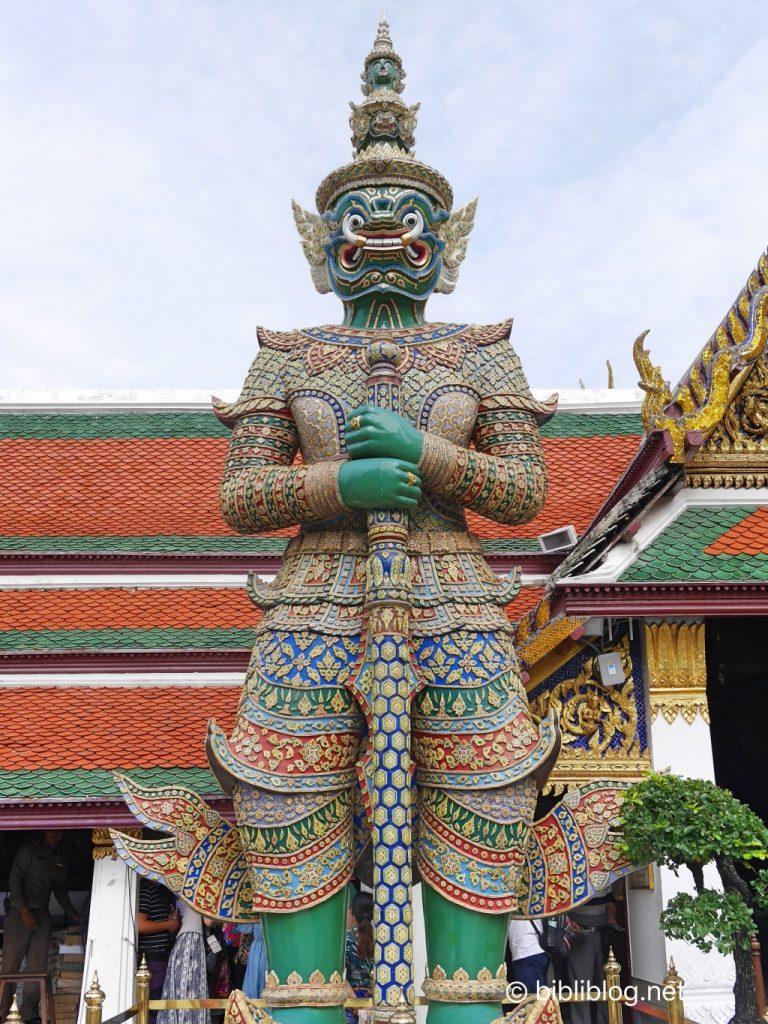 Thaïlande Bangkok palais impérial gardien