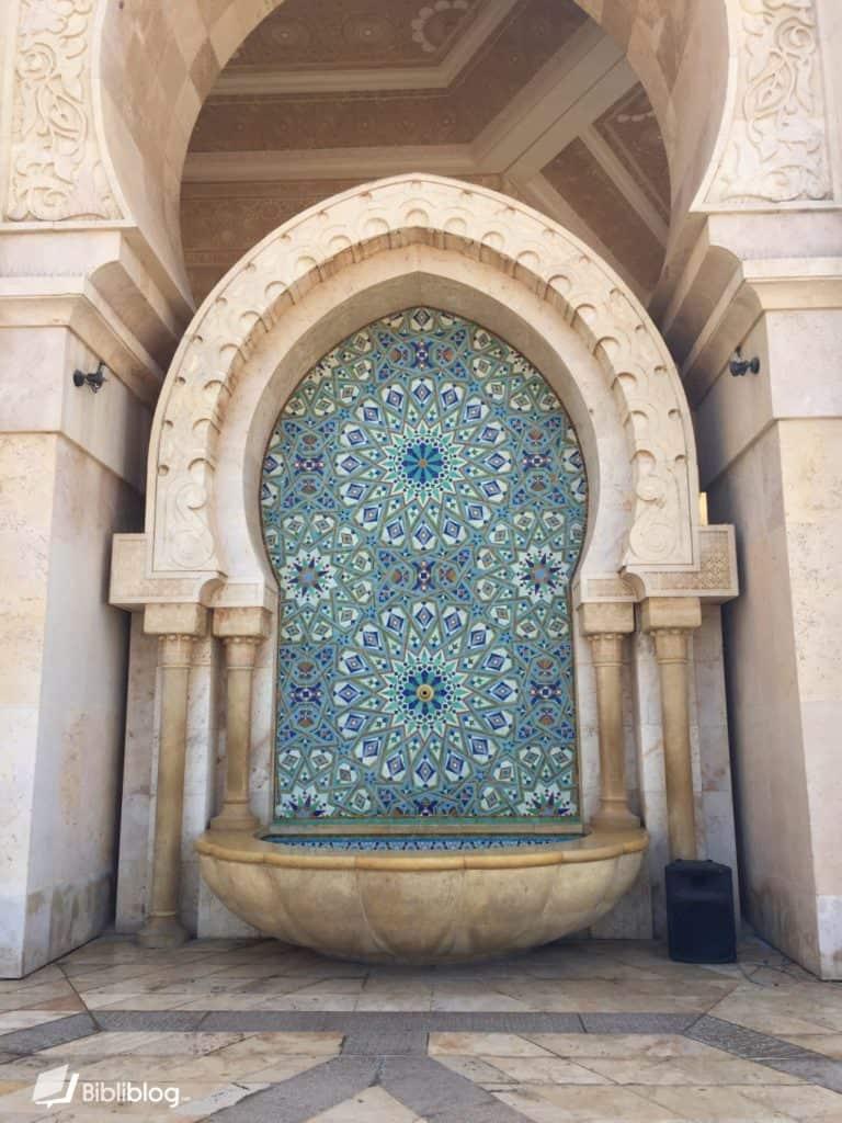 Fontaine Casablanca grande mosquée