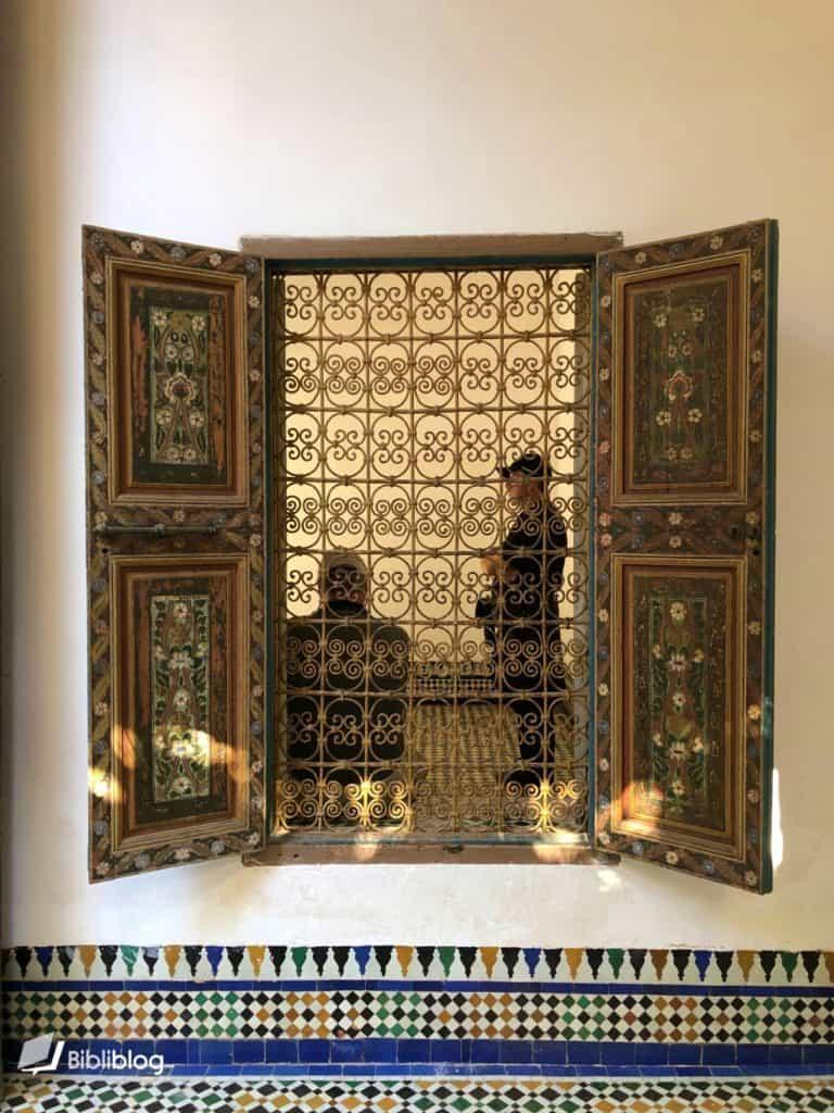 Fenêtre du palais de la Bahia, Marrakech