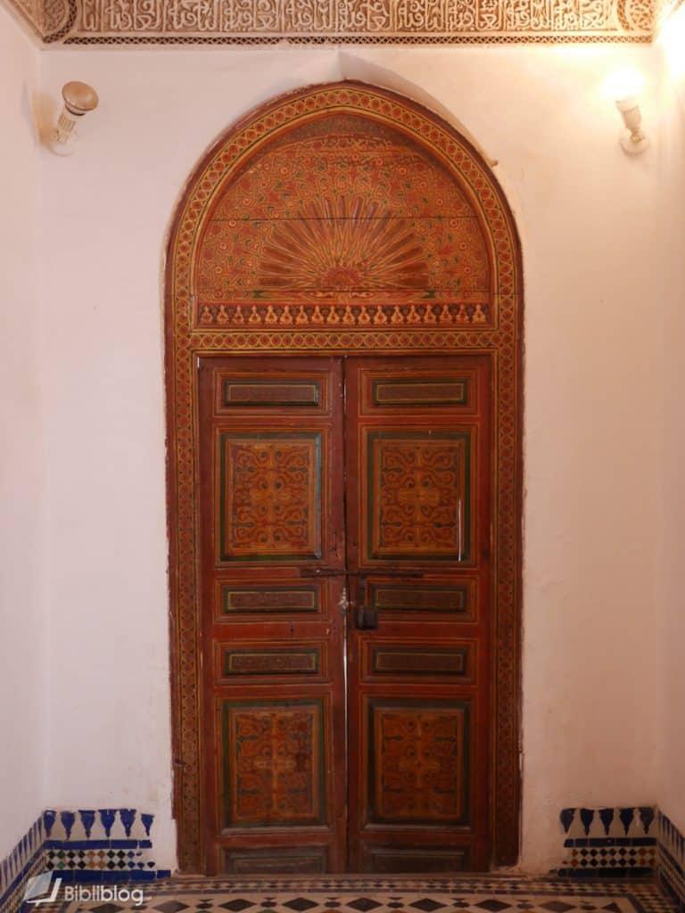 Porte du palais de la Bahia, Marrakech