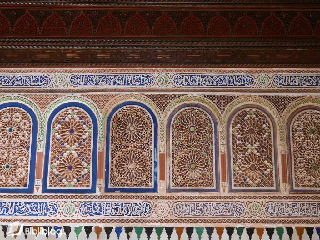 Mur du palais de la Bahia, Marrakech