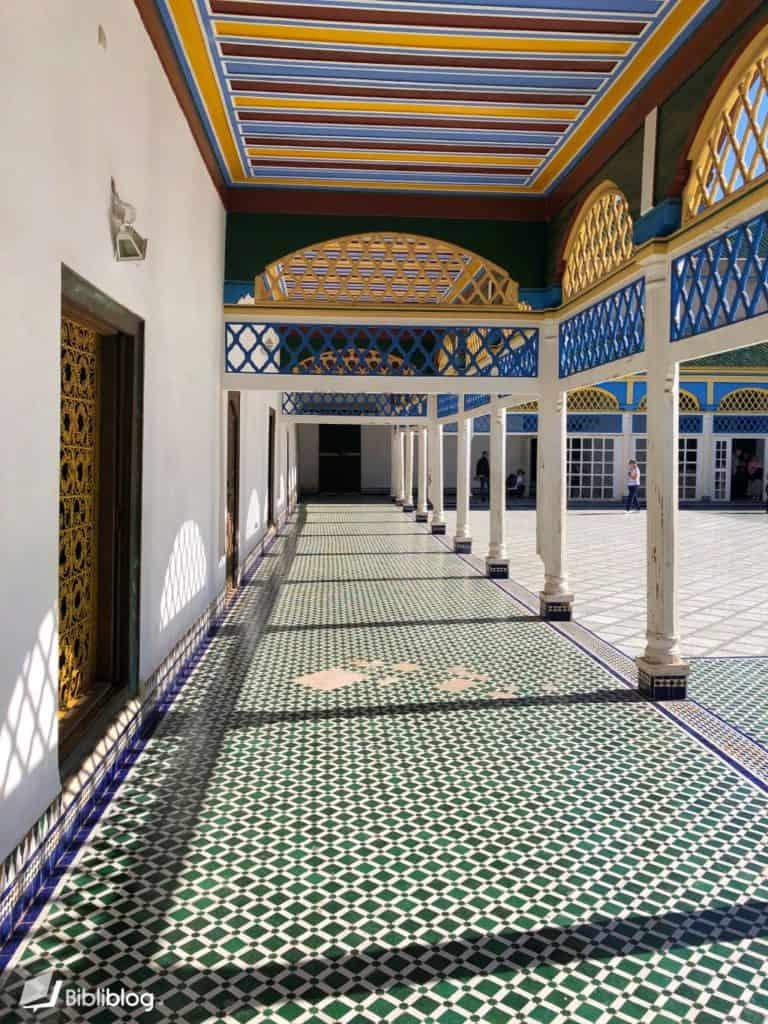 Cour du palais de la Bahia, Marrakech