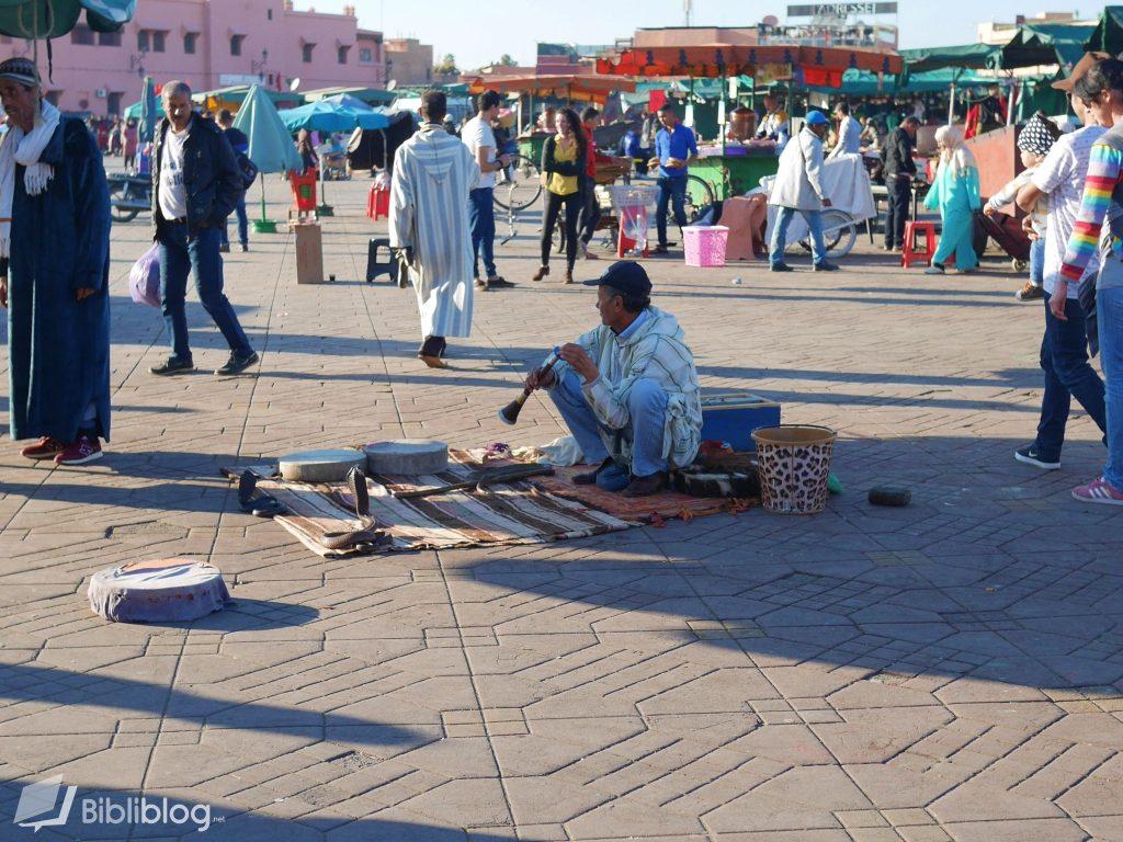 Marrakech place Jemaa-el-Fna