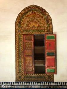 Porte, palais Bahia, Marrakech