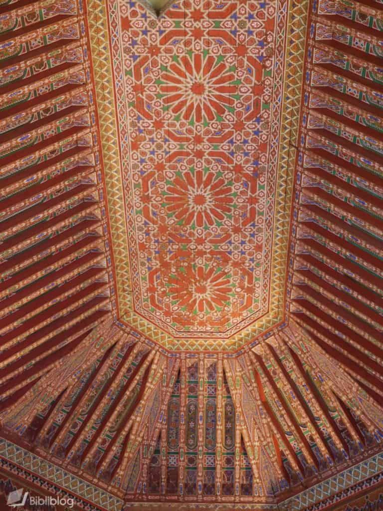 Plafond du palais de la Bahia, Marrakech