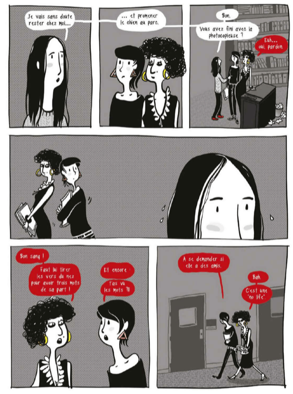 Planche extraite de La différence invisible, de Julie Dachez et Mademoiselle Caroline